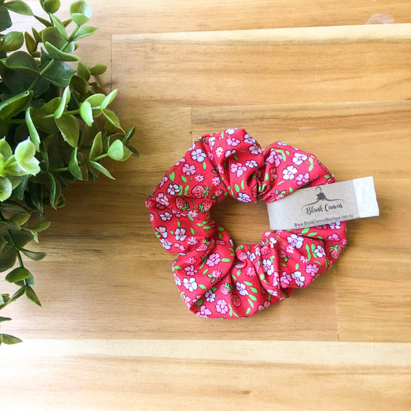 Floral and Strawberry Scrunchie