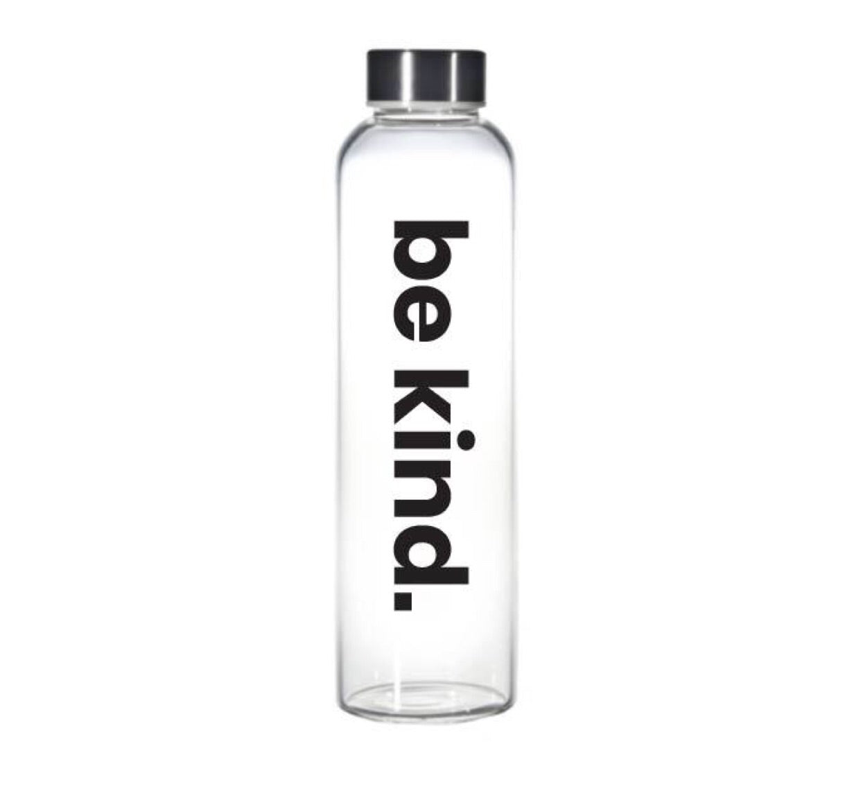 """Be kind"" glass water bottle"
