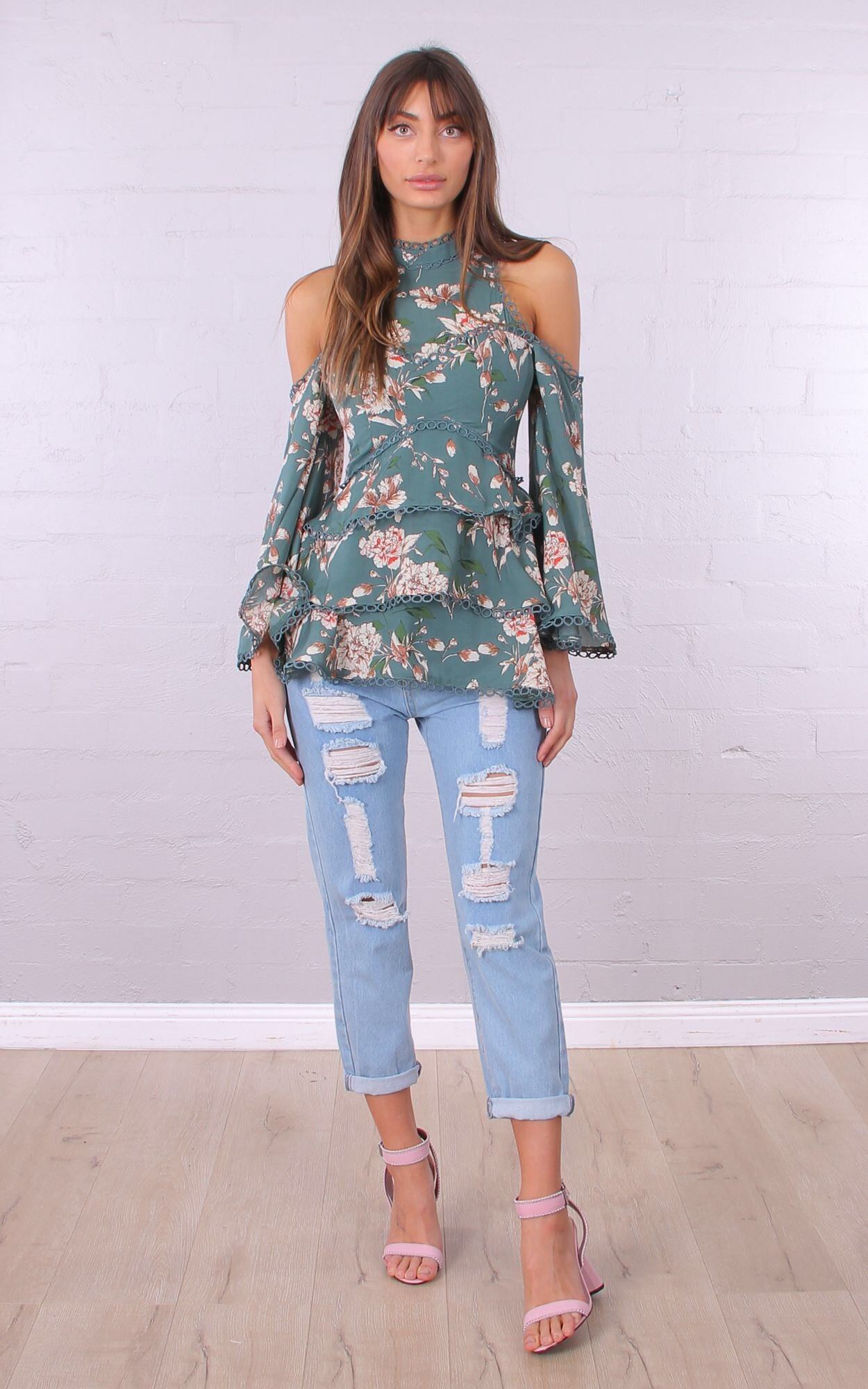 Tell tale top- teal