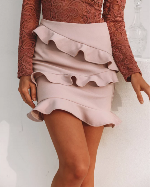 Tally skirt- blush/mauve