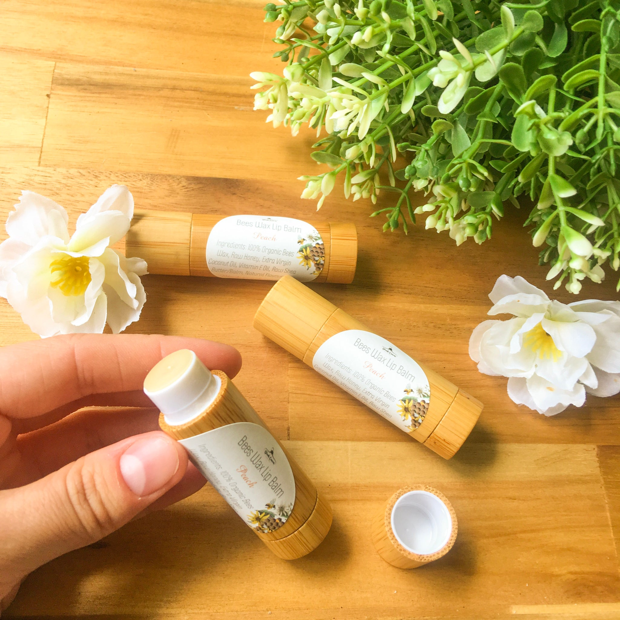 Bees Wax Lip Balm- Peach