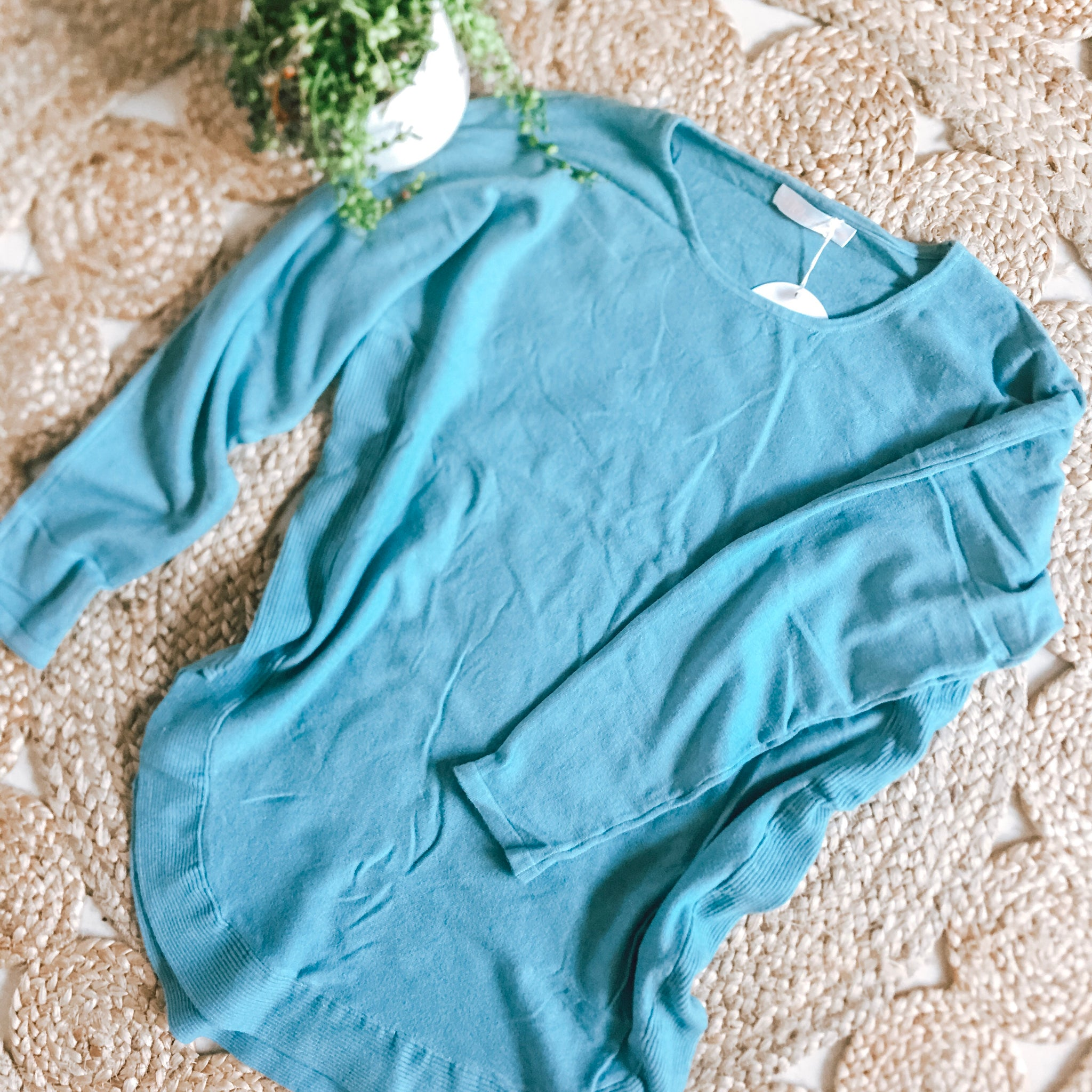 Suzy Knit Long Sleeve- Teal