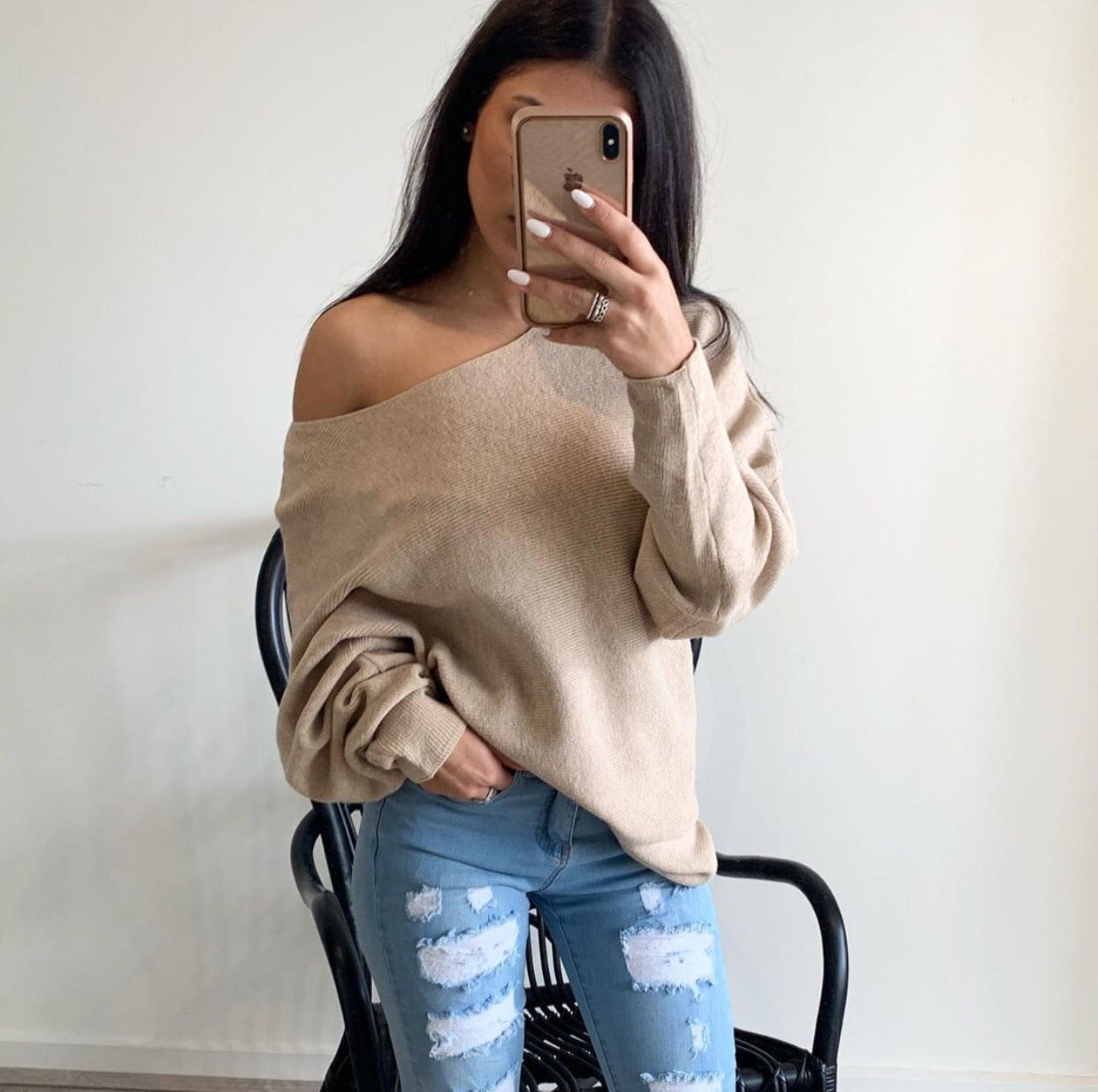 Sally Knit- Beige