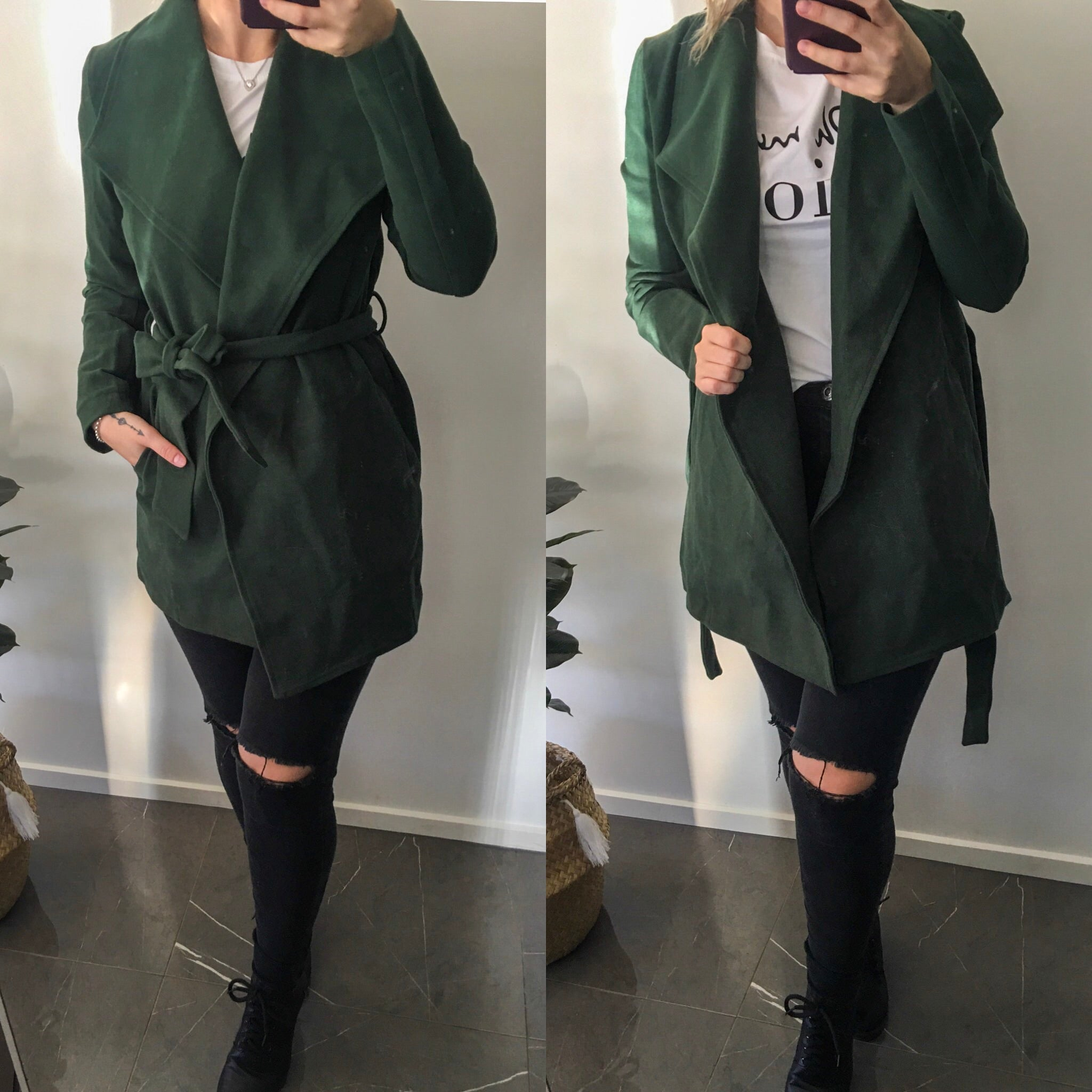 Roxanne Coat- Emerald