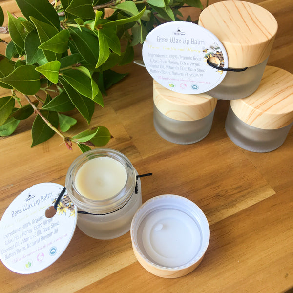 Bees Wax Lip Balm Pot- Warm Vanilla and Honey