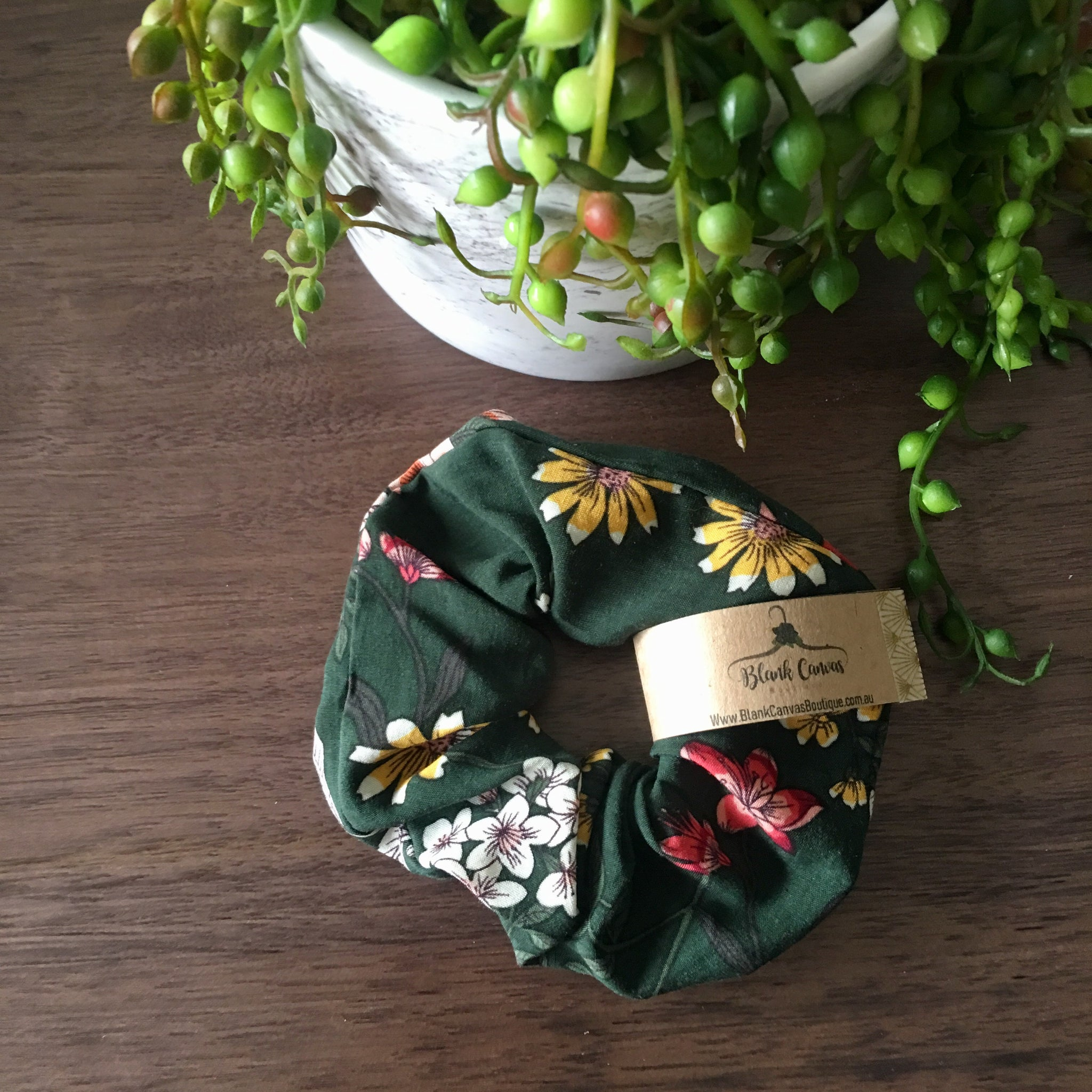 Country Floral Scrunchie