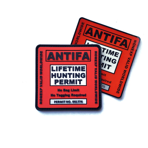 "The ""ANTIFA HUNTING PERMIT"" SET - Battle Patches"