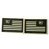 "CLEAR Limited Edition 13 star Battle Flags ""We Dare Defend Our Rights""  PVC Morale Patch Set - Battle Patches"