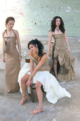 James Steward Hessian Couture - 3 models