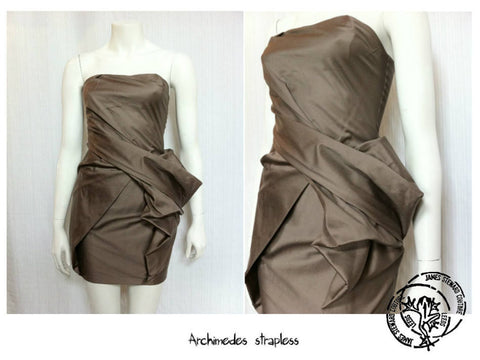 Archimedes collection, James Steward, brown dress