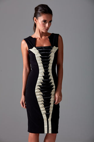 James Steward bespoke dress - black, 3D panel