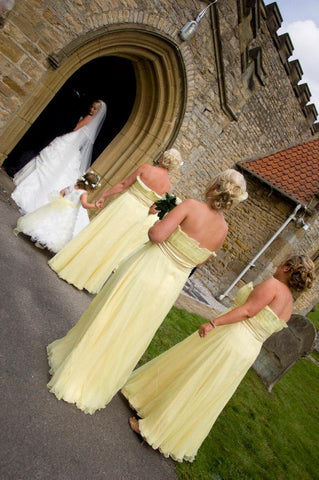 Wedding and bridesmaids dresses by James Steward - Annabel
