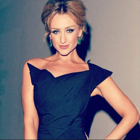 Catherine Tyldesley in James Steward dress - head / bodice