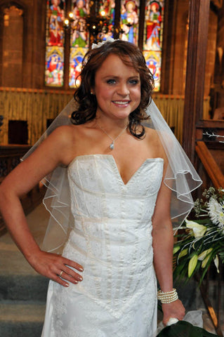 Coronation Street wedding Molly dress designed by James Steward