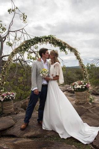 A James Steward wedding dress - Hannah & Groom