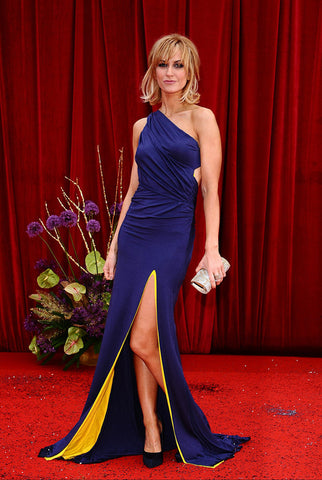 Katherine Kelly wearing her grecian inspired James Steward dress to the 2011 British Soap Awards