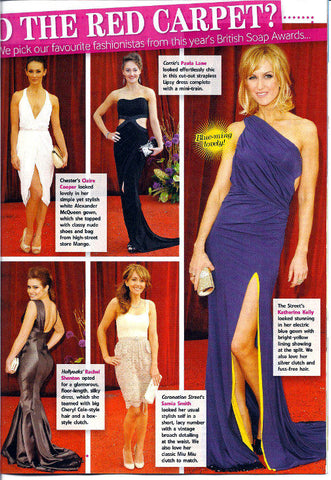 All About Soap June 2011 feature Katherine Kelly in her James Steward Dress