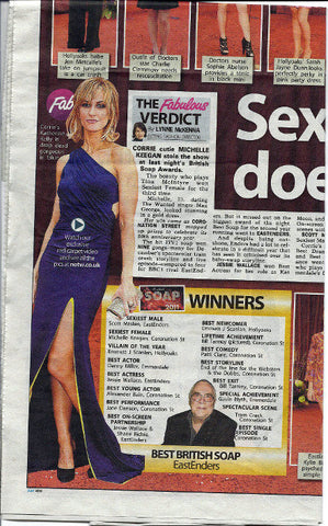 News of the World May 2011 feature Katherine Kelly in her James Steward Dress