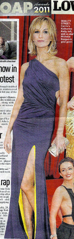 The People May 2011 feature Katherine Kelly in her James Steward Dress