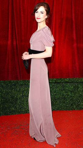 Katherine Kelly attends the 2012 British Soap Awards in a James Steward dress