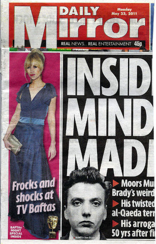Katherine Kellys 2011 BAFTA dress by James Steward - press coverage Daily Mirror