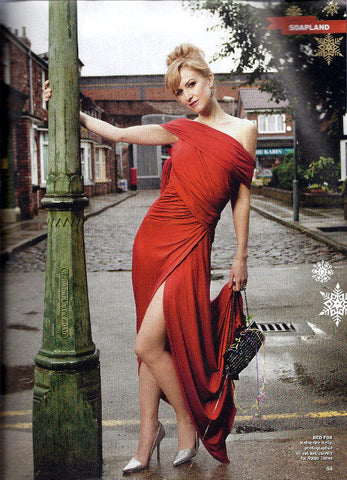 Katherine Kellys James Steward Couture dress features in the Radio Times