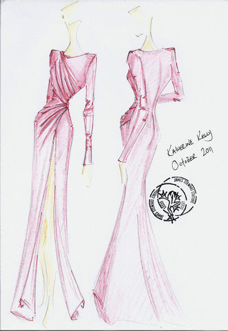 Katherine Kellys James Steward Couture dress for the 2012 Grey Goose Winter Ball 2012