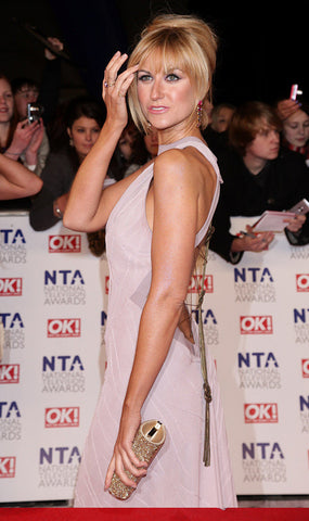 Katherine Kelly in her James Steward dress on the red carpet of the National Film Awards 2011