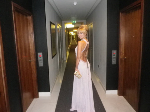 Katherine Kelly in her James Steward dress on her way to the National Film Awards 2011