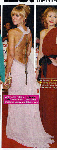 Inside Soap magazine features Katherine Kellys 2011 NTA James Steward Couture dress
