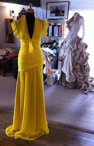 Katherine Kellys 2012 Olivier Awards dress in production by James Steward Couture  - 3
