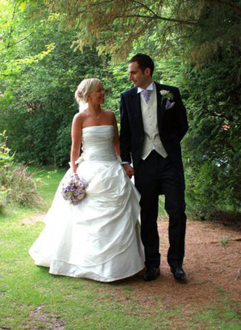James Steward wedding dress - Zoe & Groom