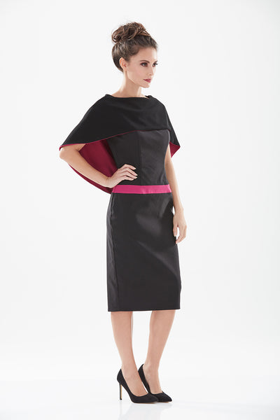 Brooklyn Cape Back Pencil Dress