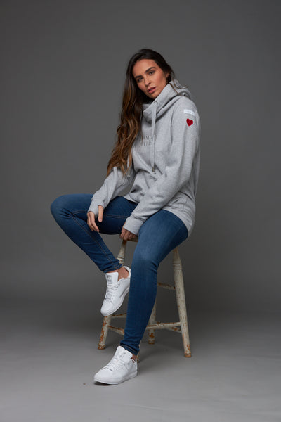No More Tiers Luxe Hoodie in Grey
