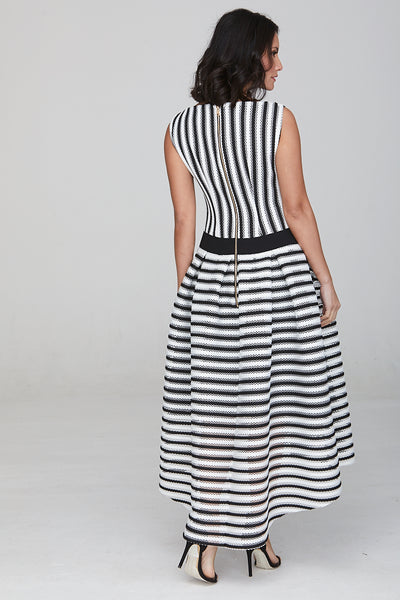 Madison Dip Hem Striped Dress