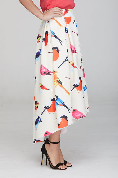 Madison Dip Hem Bird Skirt