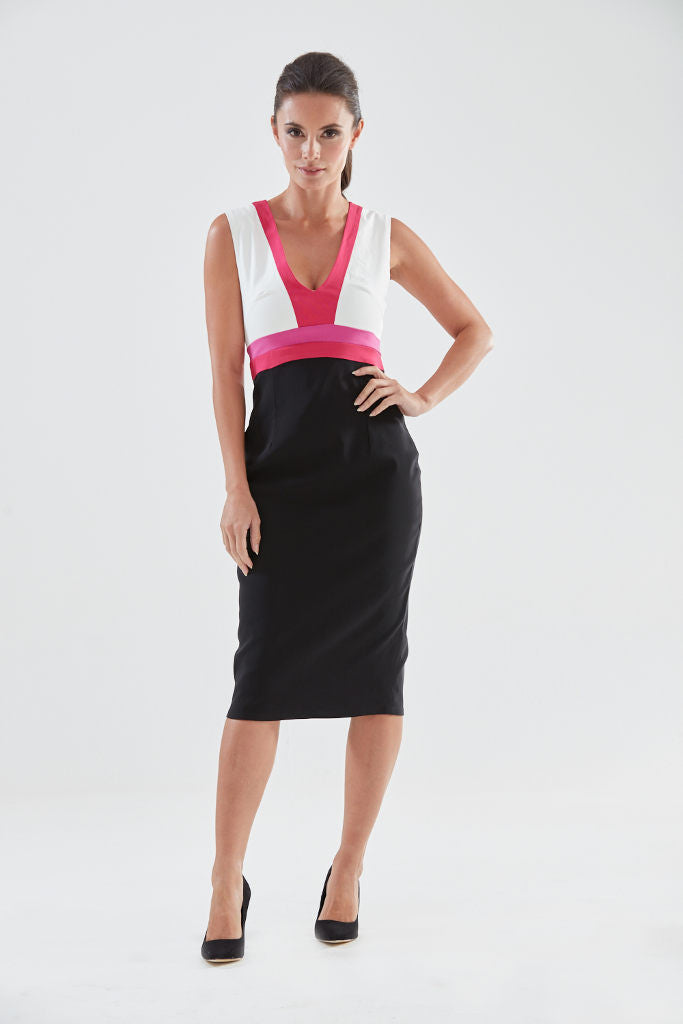 Cuckoo Pencil Dress (pink/magenta) from the James Steward Ready-to-Wear collection