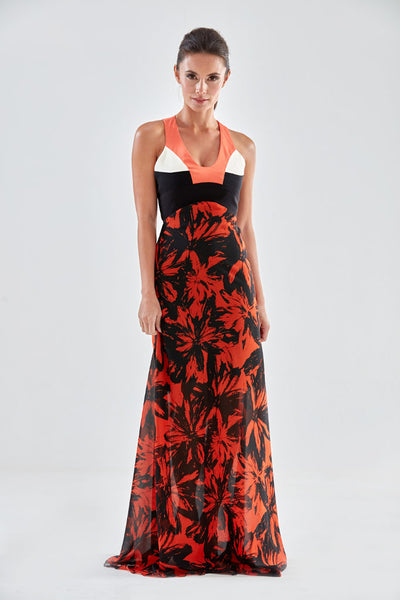 Denbigh Maxi Dress (orange) from the James Steward Ready-to-Wear collection