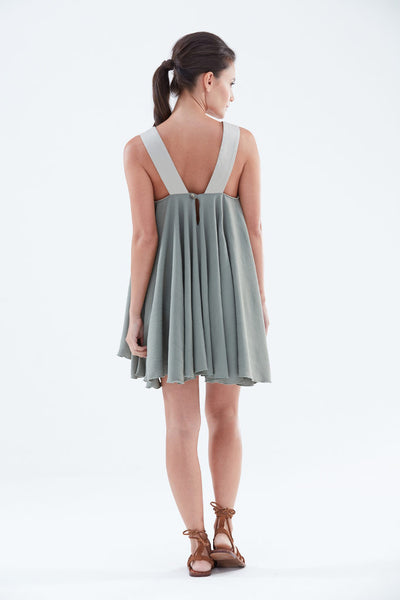 Galaxy Amira Short Sleeve Dress (back) from the James Steward Ready-to-Wear collection