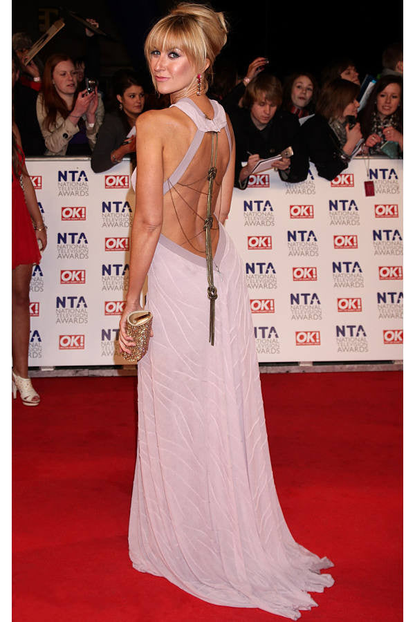 Katherine Kelly wears a James Steward dress at the NTA