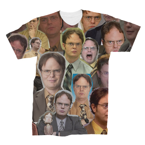 Dwight Schrute The Office Photo Collage T-shirt