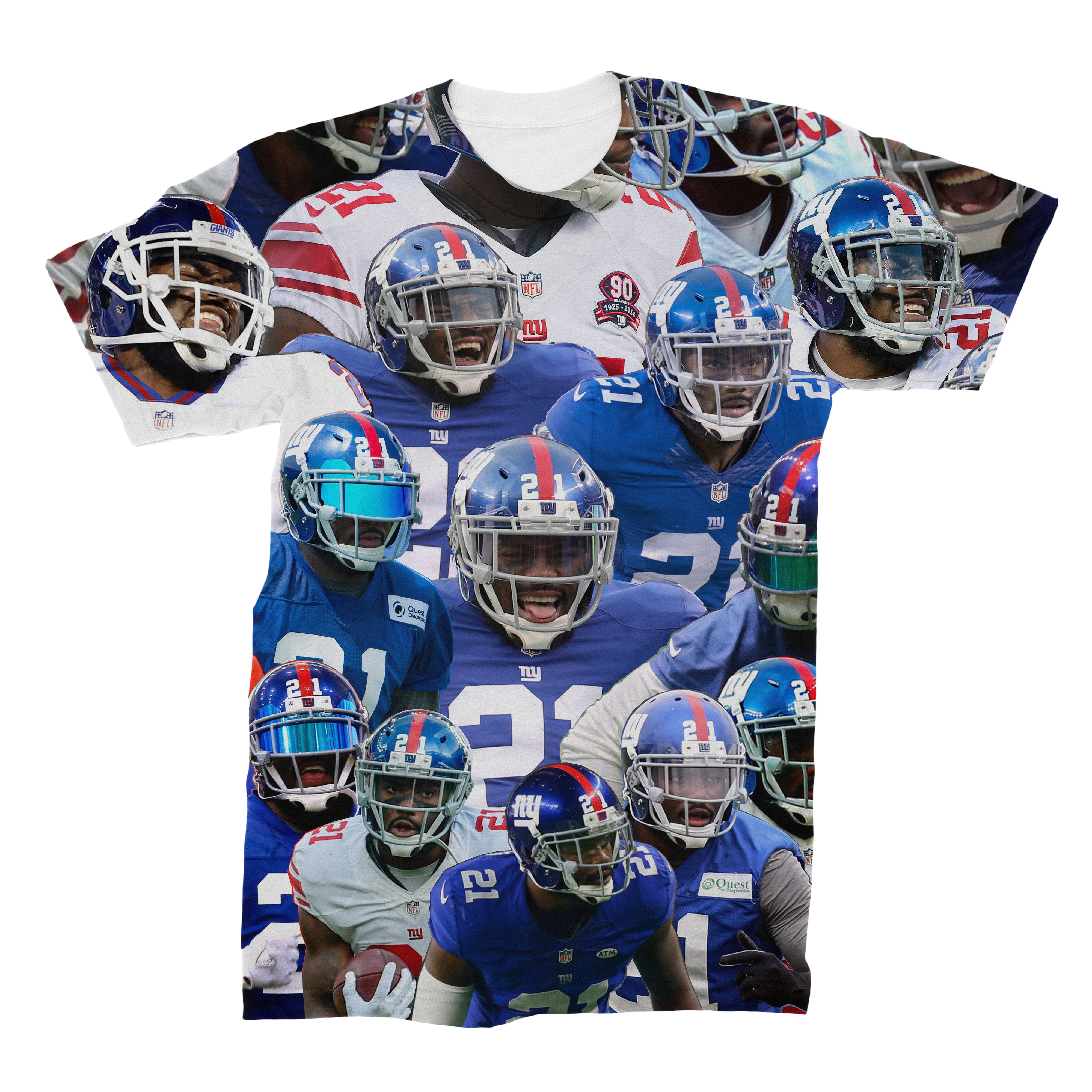 Landon Collins New York Giants Collage T Shirt