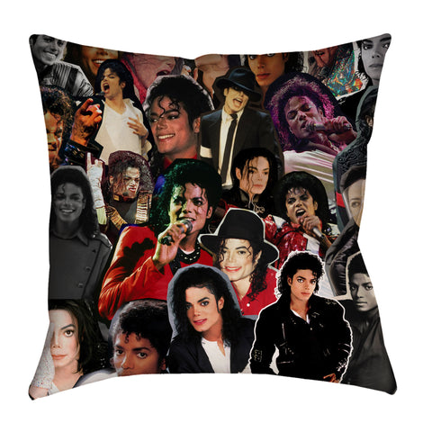 Michael Jackson Photo Collage Pillow