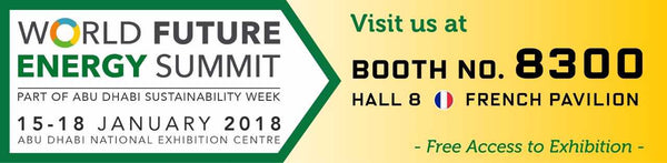 BARDOT Group will be exhibiting at the 11th World Future Energy Summit (WFES) in Abu Dhabi, from 15 to 18 January 2018