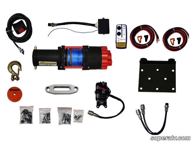 SuperATV 3500 lb. Synthetic Rope ATV Winch -With Wireless Remote