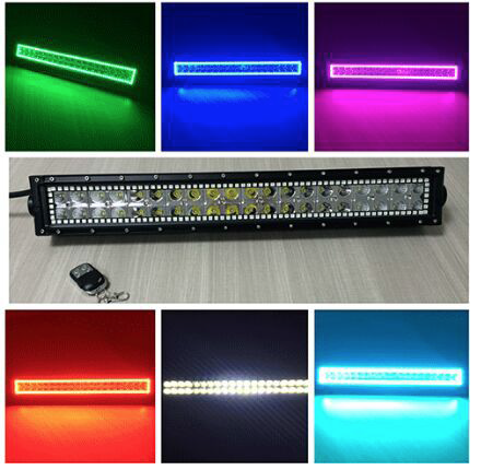 GNAR Offroad R21 Series 3W LED Light Bar with RGB Halo Rings