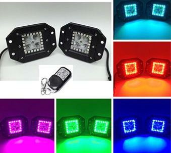 GNAR OFFROAD FLUSH MOUNT Cubes W/ RGB Halo Rings - GNAR Offroad Depot