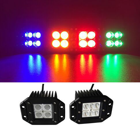 GNAR Offroad Flush Mount 12W RGB Cube Lights