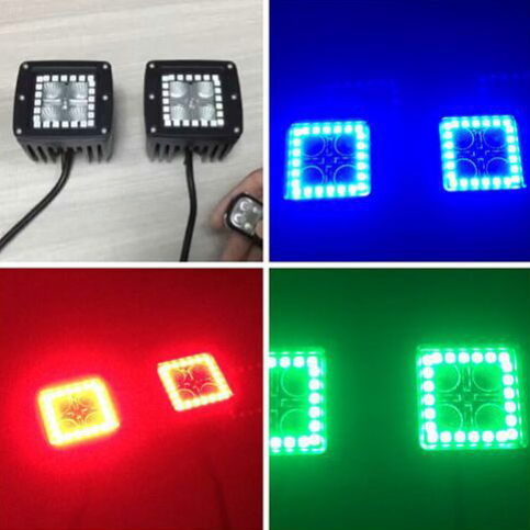 GNAR Offroad Cube lights with RGB Halo Rings