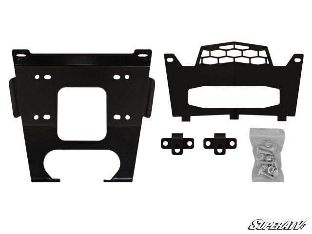 Polaris xp Turbo & General Winch Mounting Plate